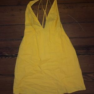 Adjustable strapped yellow sundress